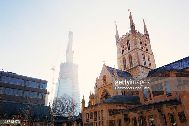 Southwark Cathedral and Shard