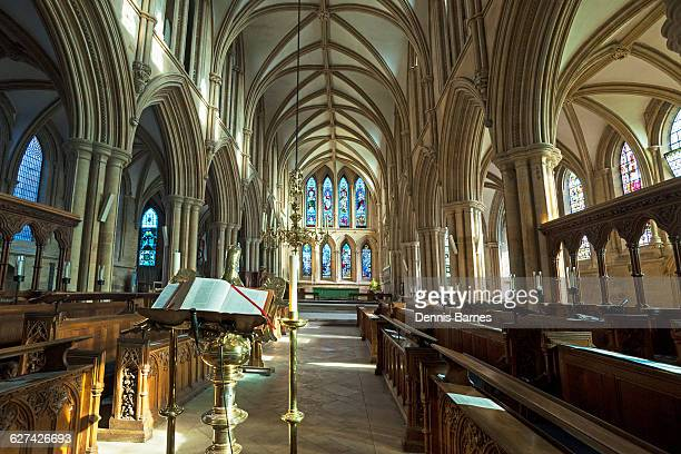 southwell; minster; choir; nottinghamshire; uk - minster stock photos and pictures