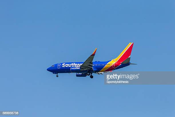Southwest Airline Airplane Landing to San Francisco Airport