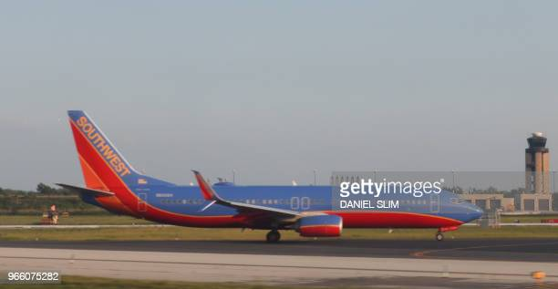 A Southwest Airlines jet lands at Philadelphia International Airport on June 1 in Philadelphia Pennsylvania