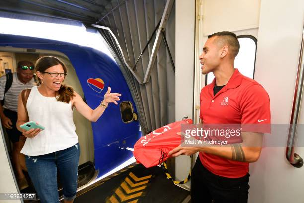 Southwest Airlines passengers are surprised with their own Nintendo Switch system for the Nintendo of America and Southwest Airlines Partnership at...
