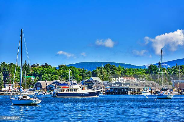 southwest harbor,acadia national park,maine - bar harbor stock photos and pictures