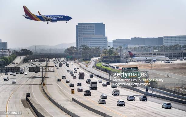 Southwest jet lands on runway 20R at John Wayne Airport in Santa Ana California on Wednesday September 6 2017