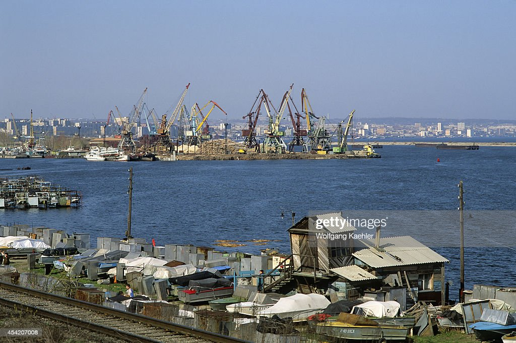 Southwest Russia, Saratov, Volga River, View Of Port... : News Photo