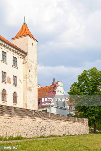southwest tower of the castle of riga - gwengoat stock pictures, royalty-free photos & images