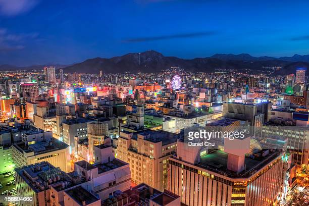 Southwest view of downtown Sapporo