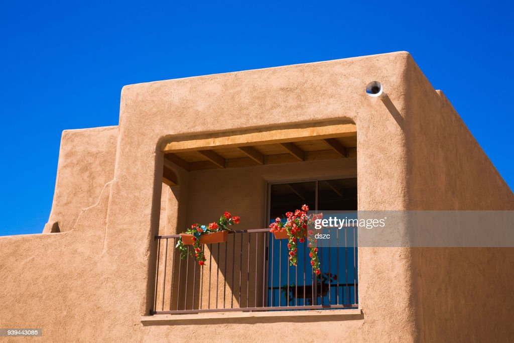 southwestern Arizona adobe residential architecture new house construction, unsold homes : Stock Photo