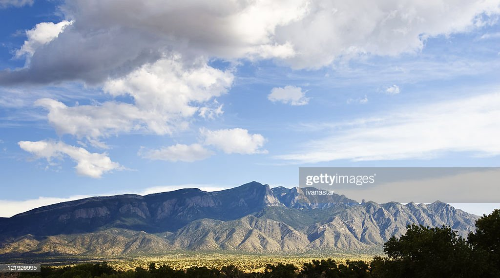 Southwestern Landscape with Sandia Mountains : Stock Photo