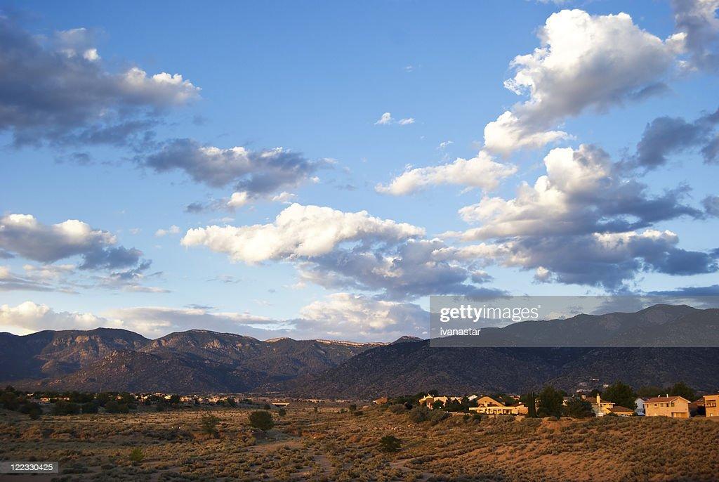 Southwestern Landscape with Sandia Mountains : Stock Photo