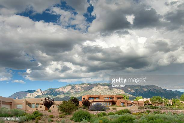 Southwestern Landscape with Sandia Mountains