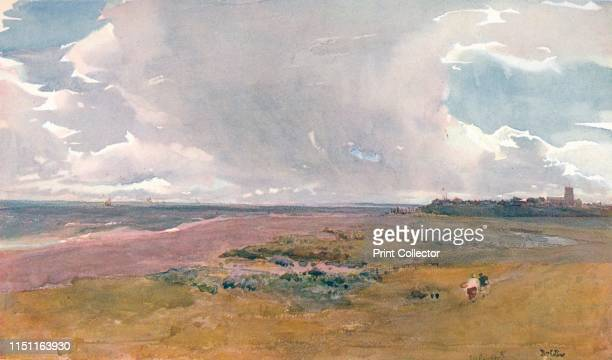 Southwold from the Beach' circa 18601890 Watercolour by Tom Collier Held at Shipley Art Gallery Gateshead Tyne Wear UK From The Royal Institute of...
