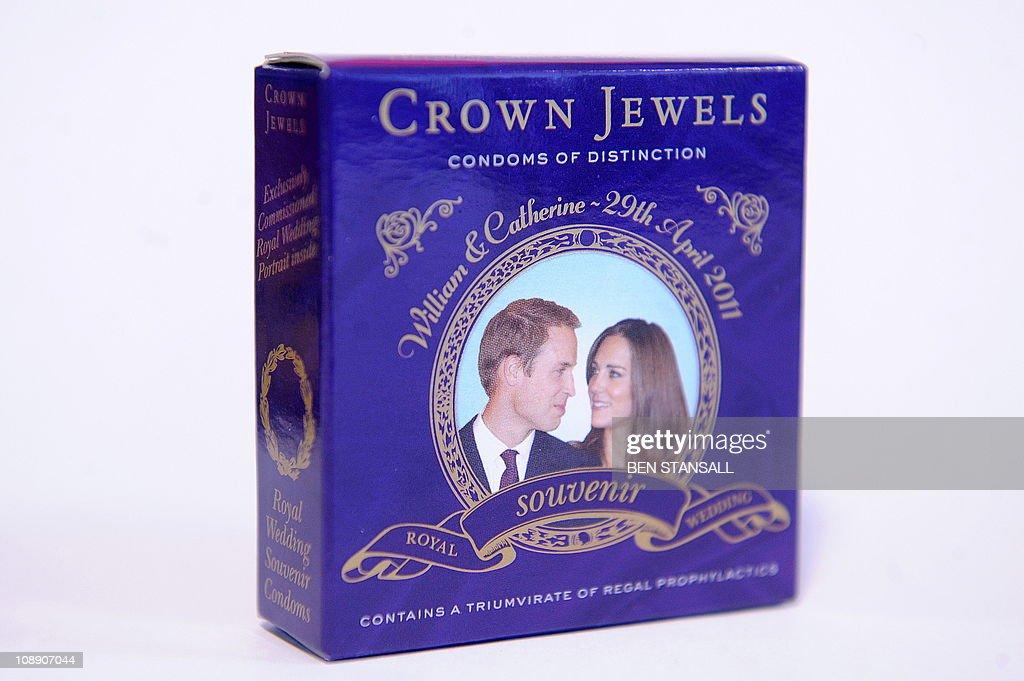 A souvenir box of condoms for the royal : News Photo