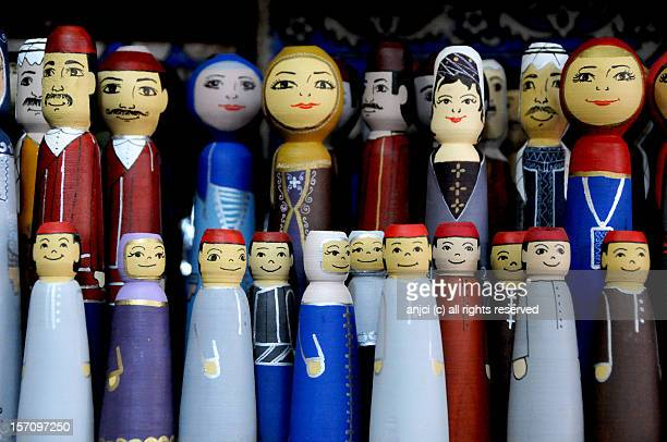 souvenir dolls in damascus, syria - damascus stock pictures, royalty-free photos & images