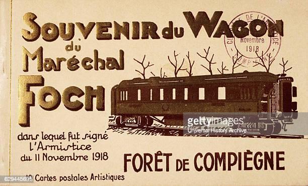 Souvenir from Railway Car Compiegne France Where World War I Armistice was Signed on November 11 1918