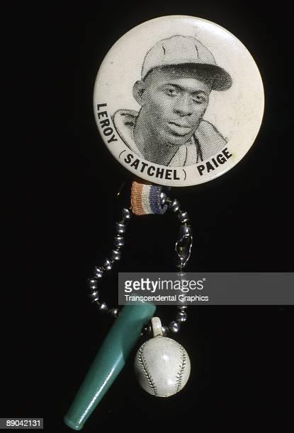 Souvenir from the Negro Leagues from about 1940 features Kansas City Monarchs' pitcher Satchel Paige.