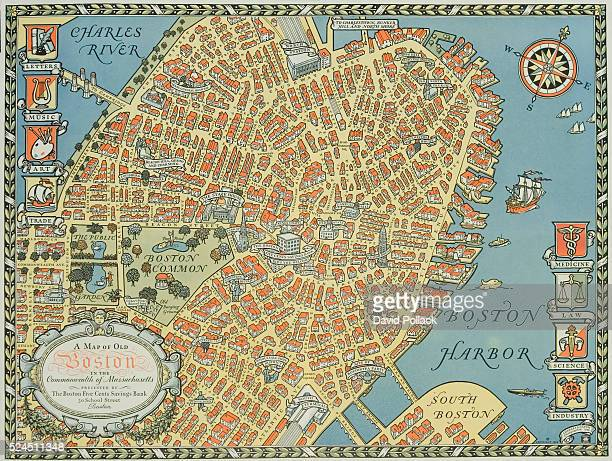 Souvenir Map of Boston