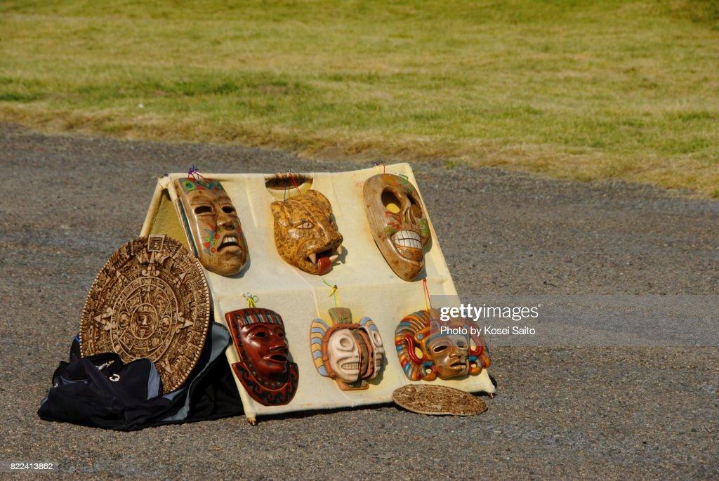 Souvenir Mexican mask : Stock Photo