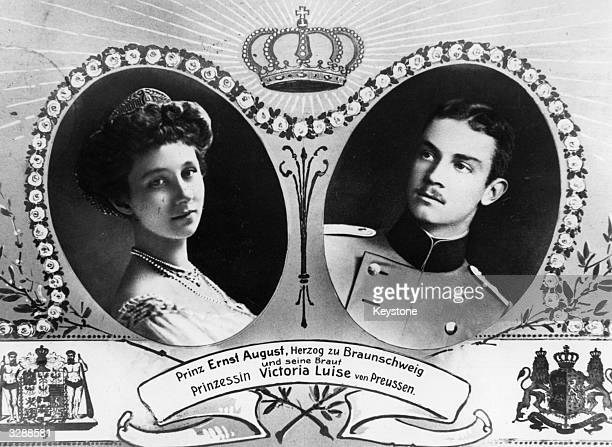 A souvenir of the wedding of Prince Ernst Augustus of BrunswickLuneburg and Princess Victoria Louise of Prussia 1892 1980 the only daughter of Kaiser...