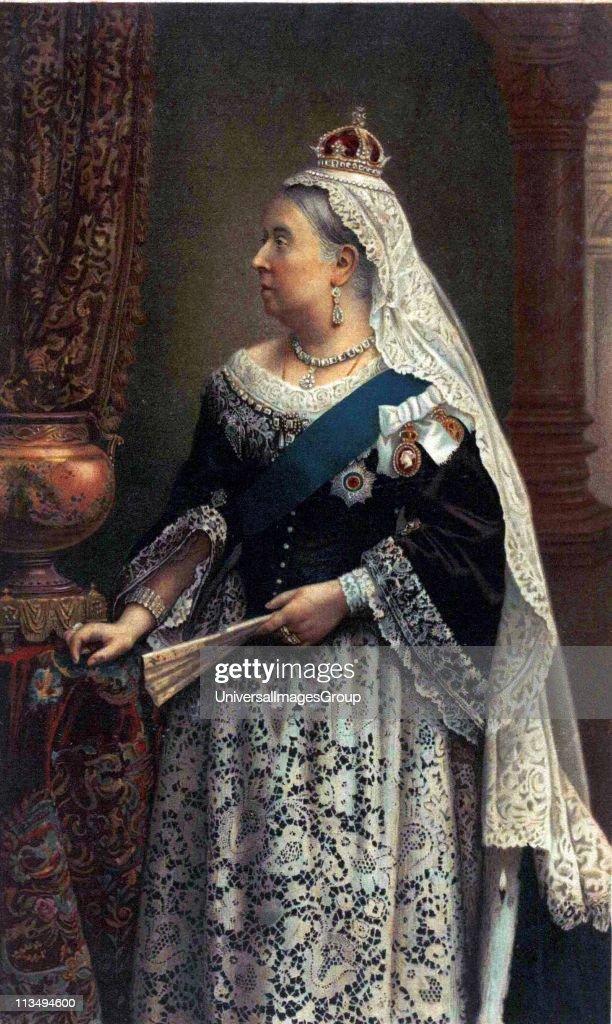 souvenir portrait of Queen Victoria. : News Photo