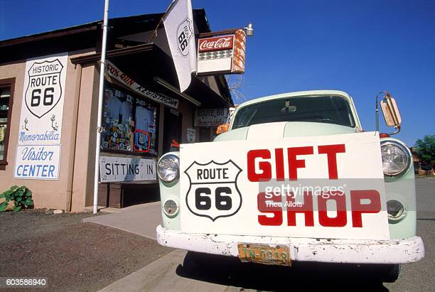 souvenir shop at the route 66, usa - sells arizona stock pictures, royalty-free photos & images