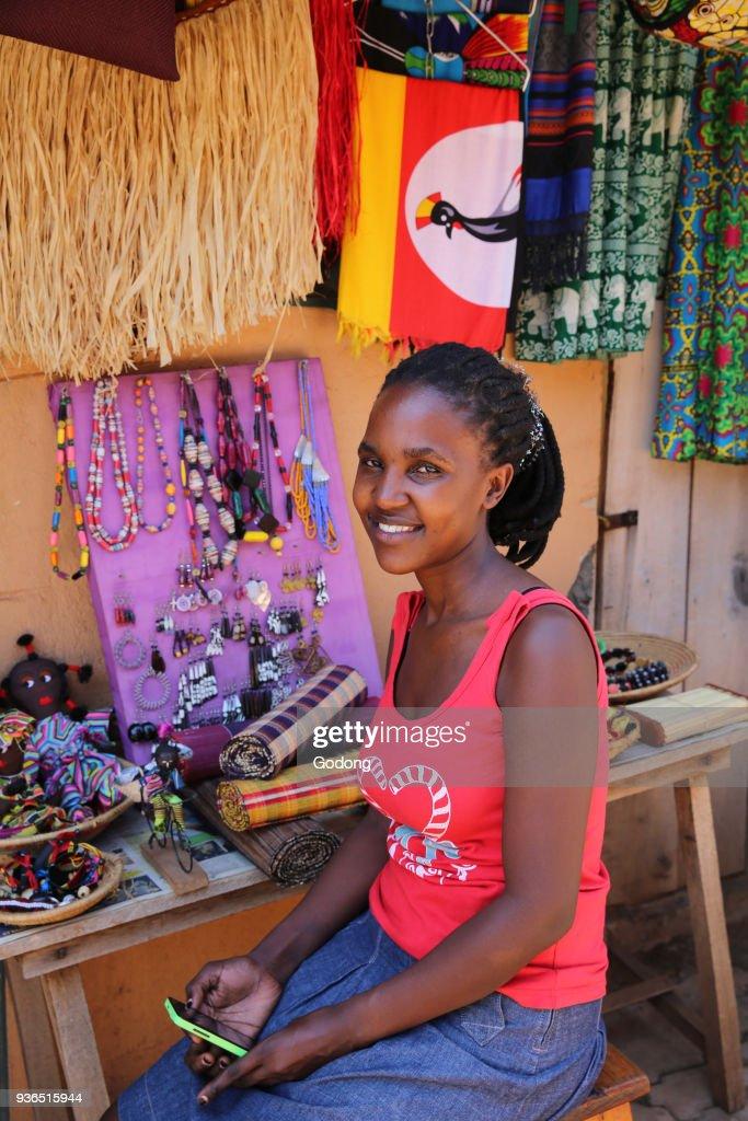 Souvenir shop in Kampala : News Photo