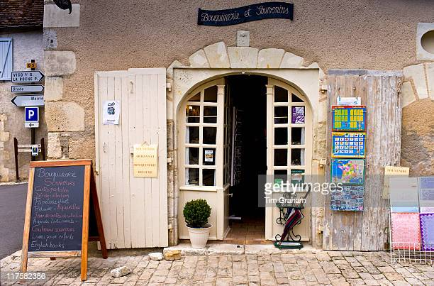 Souvenir shop in traditional French village of Angles Sur L'Anglin Vienne near Poitiers France
