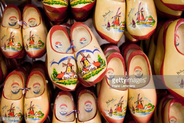 souvenir shop in volendam - clogs stock pictures, royalty-free photos & images