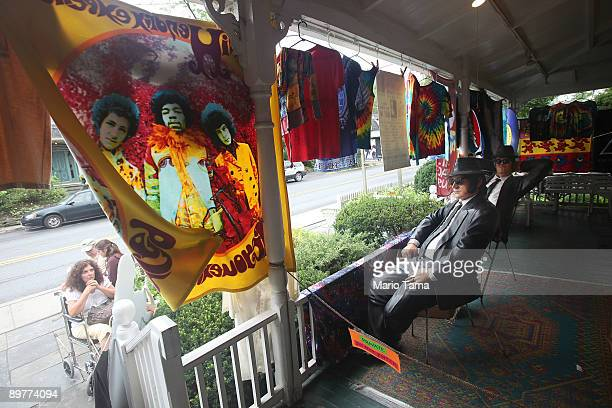 A souvenir shop is seen as the 40th anniversary of the Woodstock music festival approaches August 13 2009 in Woodstock New York On August 1517 in...