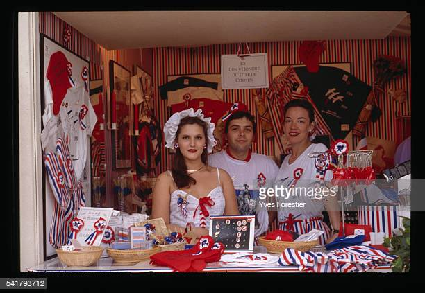 Souvenir Stand During the Bicentennial of the French Revolution
