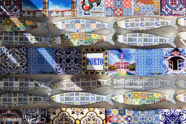souvenir tiles from porto - jeremy woodhouse stock pictures, royalty-free photos & images
