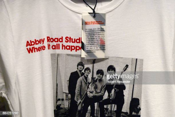 Souvenir Tshirts and books are among the Beatlesrelated items for sale at Abbey Road Shop located near Abbey Road Studios in London England formerly...
