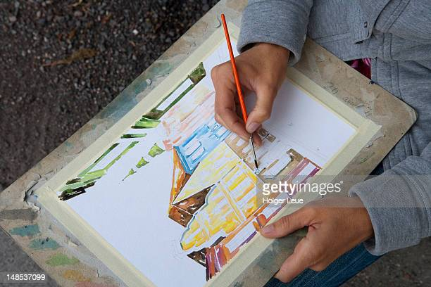 souvenir watercolour painting. - drawing artistic product stock pictures, royalty-free photos & images