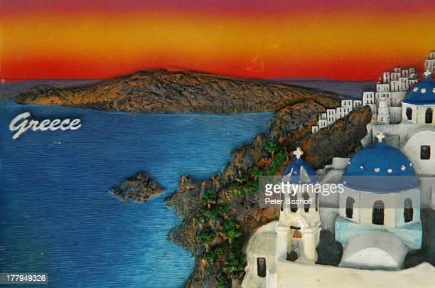 SouvenirFliese Bergdorf Zia Insel Kos Griechenland Europa Reise