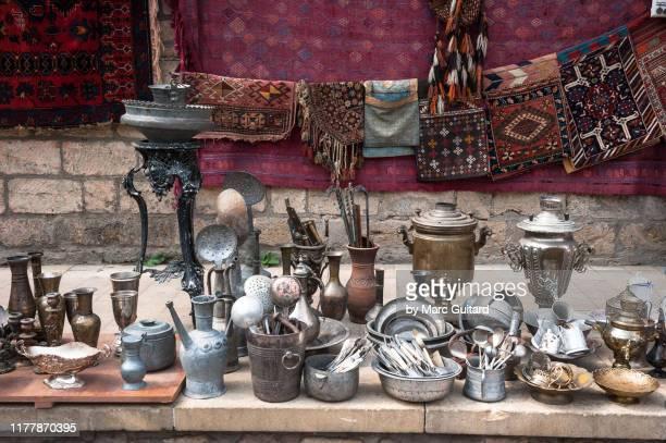 souvenirs for sale, baku, azerbaijan - baku stock pictures, royalty-free photos & images