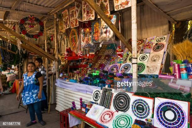 Souvenirs in market in San Salvador