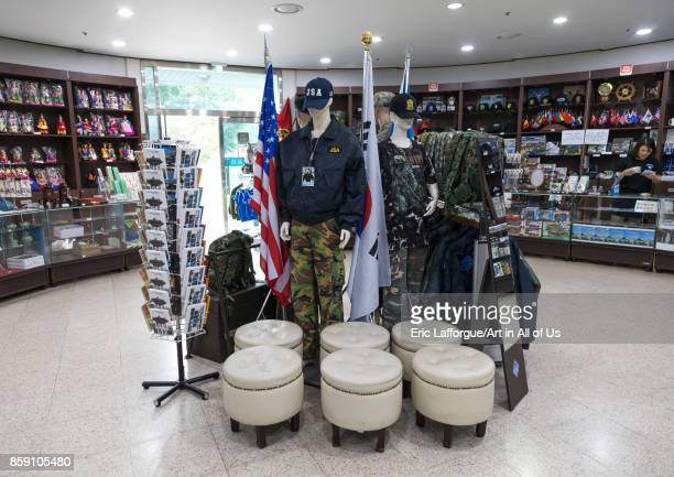 Souvenirs sold at the DMZ on the north and south Korea border, North Hwanghae Province, Panmunjom, South Korea on September 8, 2017 in Panmunjom,...