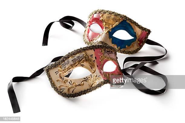souvenir: maschere veneziana - maschere veneziane foto e immagini stock