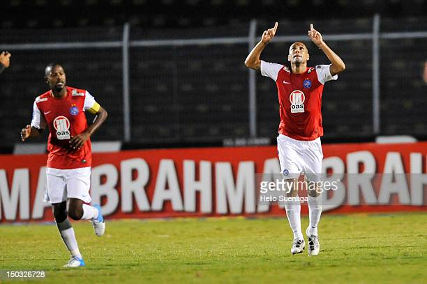 Souza of Bahia celebrate a goal during a match between Ponte Preta and Bahia as part of the Brasilian Serie A Championship at Moisés Lucarelli...