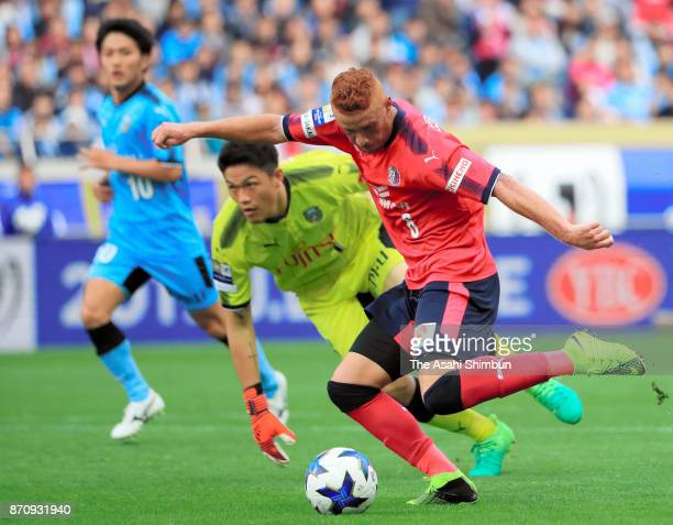 Souza of Cerezo Osaka scores his side's second goal during the JLeague Levain Cup final between Cerezo Osaka and Kawasaki Frontale at Saitama Stadium...