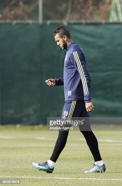 Souza of Fenerbahce attends a training session ahead of the second half of Turkish Super Lig at Belek Tourism Center in Serik district of Antalya...