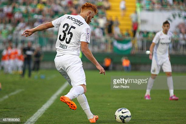 Souza of Santos during a match between Chapecoense and Santos for the Brazilian Series A 2014 at Arena Conda on October 25 2014 in Chapeco Brazil