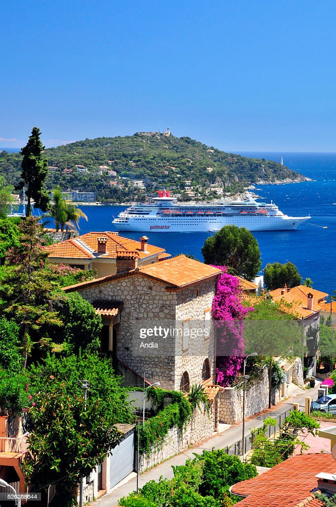 VilefranchesurMer Steamship In The Bay Pictures Getty Images - Sovereign cruise ship