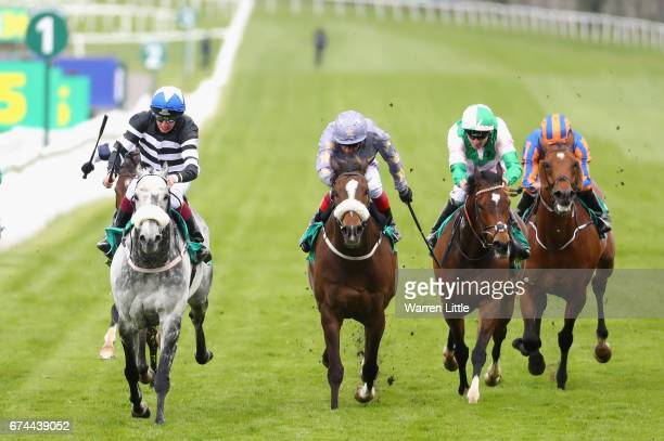 Sovereign Debt ridden by James Sullivan wins The bet365 Mile during the bet365 Classic Trial Day at Sandown Park on April 28 2017 in Esher England