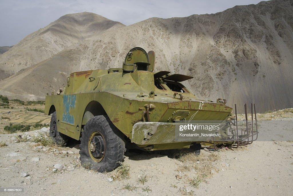 Soviet armoured car in Afghanistan : Stock Photo