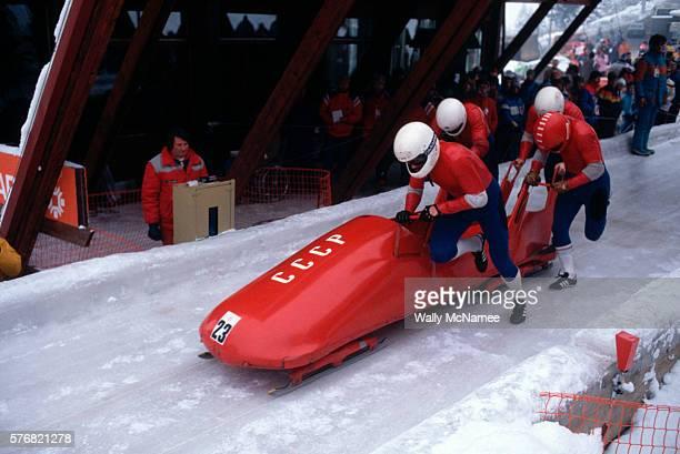 Soviet Bobsled Team at the 1984 Olympics
