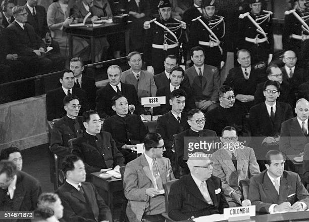 Soviet Chinese and Columbian leaders which include Soviet ViceForeign Minister Andrei Gromyko Russian Foreign Minister Vyacheslav Mikhailovich...