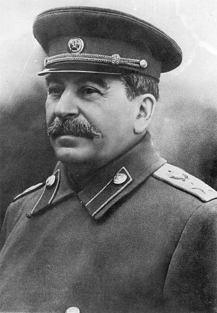 Soviet Communist leader Joseph Stalin .