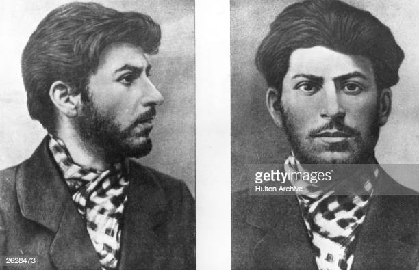 Soviet Communist leader Joseph Stalin taken from a police file
