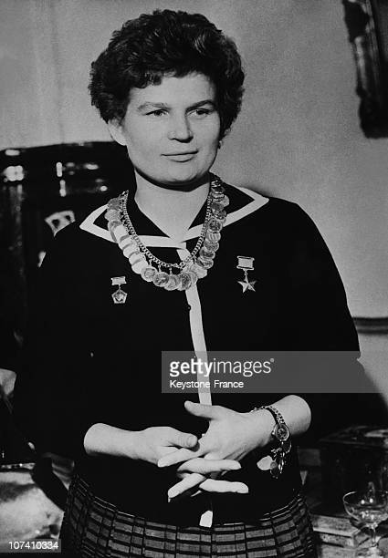 Soviet cosmonaut Valentina Tereshkova the first woman to have flown in space circa 1965
