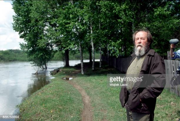 Soviet dissident novelist and Nobel Prize winner Aleksandr Solzhenitsyn during his journey across Russia Khabarovsk Russian Far East